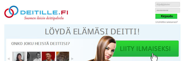 Deitille.fi seuranhakupalvelun nettisivu
