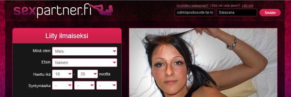 Sexpartner.fi seksihaku nettisivu